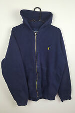 MENS BLUE ATHLETIC SPORTS USED RALPH LAUREN TRACKSUIT TOP JACKET HOODIE UK L