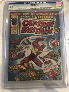 CAPTAIN BRITAIN #1 Origin 1st UK Marvel 1976 RARE Bonus Mask included CGC 9.2