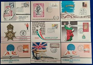1990/91 MALTA Collection 9 SHC Cancelled - postal Cards- Postal stationery #2