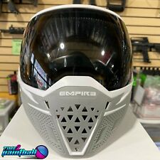 Empire EVS Paintball Airsoft Goggles w/ 2 Thermal Lenses(Smoke,Clear) White/Grey