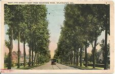 West 17th Street East From Rockford Park in Wilmington DE Postcard 1924
