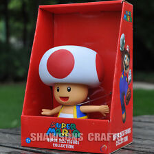 """SUPER MARIO BROTHERS TOYS LARGE SIZE 7"""" TOAD DOLL FIGURE"""