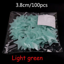 3D 100 pcs Stars Glow In The Dark 1x Moon Luminous Fluorescent DIY Wall Stickers