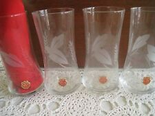ARCADIA CRYSTAL ETCHED TALL GLASSES HUNGARY SET OF 4