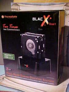 ThermalTake BlacX Duet eSATA USB Dual Hard Drives Docking Station ST0014U NEW
