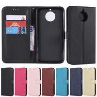 Slim Wallet Leather Flip Case Cover For Motorola Moto C G2 G4 G5 G6 G5S Plus E4