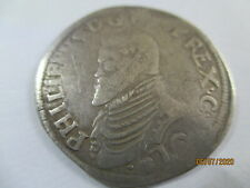 More details for spanish netherlands silver coin holland 1/5 philipsdaalder 1555-1598