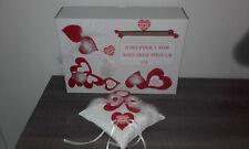 Coussin mariage pour alliances neuf rouge et blanc + urne boîte de mariage