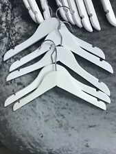 16 White Wooden Childrens Coat Hangers