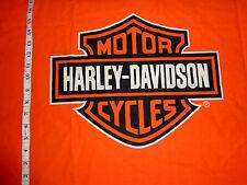 "HARLEY DAVIDSON Fabric ORANGE SHIELD - Fat SQ 19"" long x 23"" wide - NEW!!"
