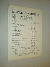 INSOLE & GRIMLEY LTD. BIRMINGHAM. circa 1900. HORSE CARRIAGE SUPPLIES CATALOGUE