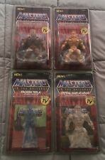 NEW Super7 Vintage MOTU Lot Robot/Gold He-Man,Frozen Teela,Crystal Man-At-Arms