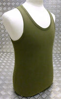 100% Cotton OD Military Green Sleeveless Vest Singlet Tank Top All Sizes NEW