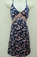 Dorothy ❤ Blue Pink Floral CHEMISE Strappy NIGHTIE SLIP NightDress ❤ UK 6 S Eu 2