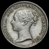 1842 Queen Victoria Young Head Silver Fourpence / Groat