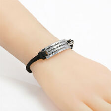 Life isn't about surviving the storm Suede Leather Rope Wristband Bracelet Black