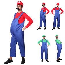 Super Mario Bros. Mario Luigi Klempner Herren Kostüm oder Bierbauch für Karneval