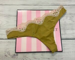 NEW Victoria's Secret Dream Angels Super Soft Cheekini Thong Panty Satin Lace