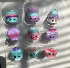 Lot 2018 Shoppies Food Fair EXCLUSIVE GLITTER Shopkins Strawberry Teacup Macaron
