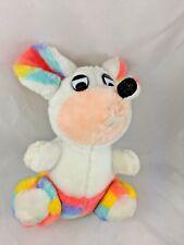 "A-1 Novelty Co Mouse Plush Rainbow Stripe 10"" 1984 Stuffed Animal"