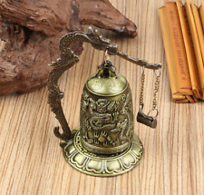 Zen Art Brass Feng Shui Desktop Dragon Windbell Table Gong Home Decor Gift Usa
