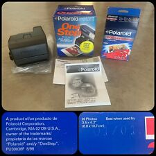 90s POLAROID Instant ONE STEP Camera w/ BOX & 2 Pack 600 Film Platinum Exp 01/01