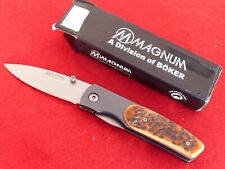 Boker Magnum new in box bone liner lock stainless RY082 knife