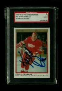 Keith Primeau 1990-91 O-PEE-CHEE PREMIER Auto Rookie SGC Authentic! Red Wings RC