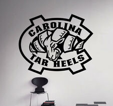 Wall Decal North Carolina Tar Heels College Football NCAA Vinyl Sticker (24nc)