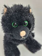 GANZ Webkinz Plush Black Cat Big Green Eyes Stuffed Animal Toy HM135 No Code   7