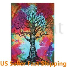 Tree Of Life Hippie Mandala Bedspread Wall Hanging Bohemian Throw Tapestry Rug