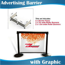 Advertising Barrier Posts Cafe Barrier with Graphics
