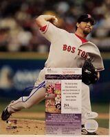 Josh Beckett Signed Boston Red Sox 8x10 Photo Inscribed JSA COA
