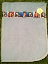Dolls Blue Fleece Blanket with Postman Pat Ribbon Detail -Ideal for Baby Dolls