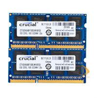 Crucial 2x 8GB 2Rx8 PC3L-12800S DDR3L 1600Mhz SODIMM RAM Laptop Memory Intel #16