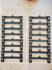 "Heavy Duty Pants / Skirt Clip Hangers 10 pcs set. 8"" or 10"""