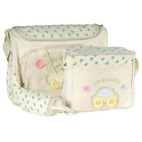 4 tlg. Baby Wickeltasche Pflegetasche Kindertasche Babytasche Beige
