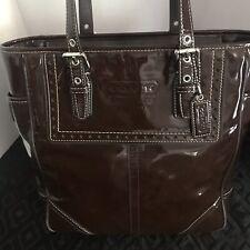 Coach Outline Signature Zip Top Tote Shoulder Bag Handbag F55364