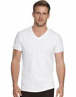 Hanes V-Neck 4-Pack T-Shirt Men's Comfort Fit White Undershirt Ultimate Short