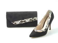 Ladies Bridal Occasion Shoes Stiletto Low Kitten Heel Sizes - Handbags Available