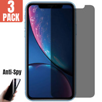 3PACK Anti Spy Privacy Tempered Glass Screen Protector for iPhone X/XS/XR/XS MAX