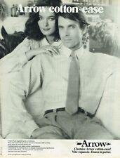 Publicité Advertising 019  1980  chemise homme Arrow  cotton-ease