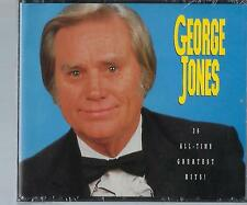 George Jones: 36 All-Time Greatest Hits [Box] ~ Sealed 3-CD Set (1992, GSC) OOP