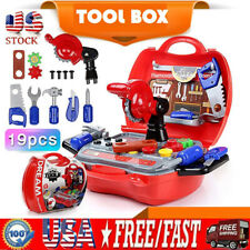 Kids Pretend Play Toys Set Construction Repair Work Tools Playset For Boys Gift