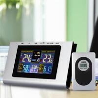 Digitale Funk Wetterstation Alarm Funkuhr Thermometer Hygrometer LED Display