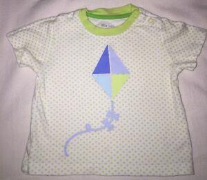 MIX BABY green Stars Kite Tshirt Size 1 Cotton EUC/near New. Combined Post