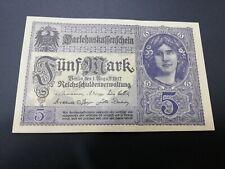 GERMANY 5 MARK 1917 UNC