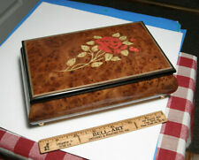 San Francisco Music Box Co Music Box Hand Made in Italy Jewelry Box Red Rose