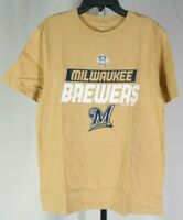 Milwaukee Brewers Baseball Tan T-Shirt Kids XL Genuine Merchandise T3