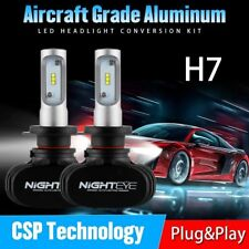 Nighteye H7 50W 8000Lm LED Car Headlight Conversion Globes Bulbs 6500K White Kit